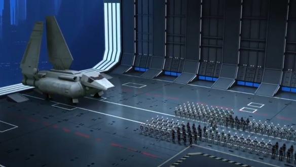Nein, das ist nicht der Hangar des Todessterns.
